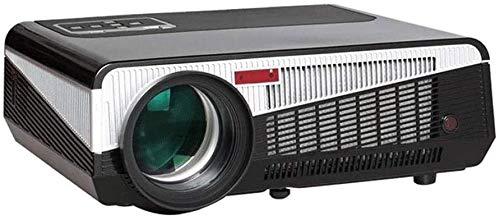 YUYANDE Rendimiento 1080P Proyector Full HD, proyector LED de 250'W / ± 45 ° Corrección de Piedra Angular electrónica, Compatible con HDMI, para el hogar y el Entretenimiento al Aire Libre