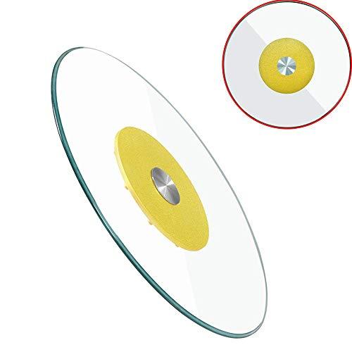 AFDK Lazy Glass Turntable, runde rotierende Servierschale mit lautlosen Lagern aus Aluminiumlegierung für Esstisch,100 cm