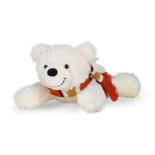 Energie Bär® Benny liegend | Stofftier mit energetischer / harmonisierender Wirkung zum kuscheln | Plüschtier für Erwachsene, Allergiker, Kinder & Babys ab 3 Monaten (20cm, Weiss)
