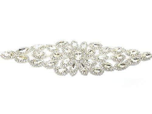 Strassstein Diamant Silber Hochzeit Zum Aufnähen Motiv Kristall 70