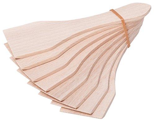 iapyx® Raclette Zubehör Spachtel Schaber und Untersetzer Brettchen aus Holz für Raclette Pfännchen (8, Racletteschieber)