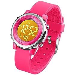 top 10 children waterproof watches Children's Digital Sports Waterproof Watch for Girls and Boys, Children's Sports LED Outdoor Electric Watch …
