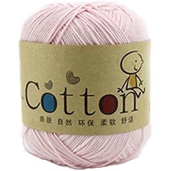 Generic - Hilo de algodón natural para bebé, lana para tejer ...