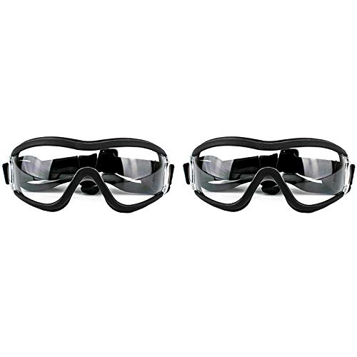 Fauge 2 Pcs Dog Sunglasses Dog Goggles Adjustable Strap for Travel Skiing and Anti-Fog Dog Snow...