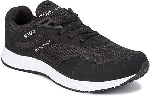 SEGA Men's Black Running Shoes - 9 UK