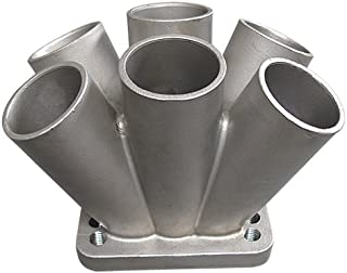 Cxracing Cast 304 Stainless Steel 6-1 Turbo header manifold Merge collector T3 T4 Flange