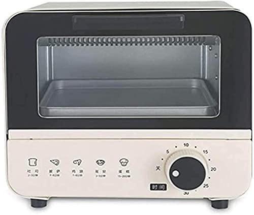 Horno tostador, Mini eléctrico compacto, Horneado del hogar, 30 minutos de rotación de la hora del desayuno familiar que hace la estación 6l control de temperatura ajustable del hogar completo