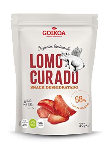 Goikoa Snacks Crujientes Chips de Lomo | Calidad Extra | Proteína Natural | Sin Gluten | 20 g