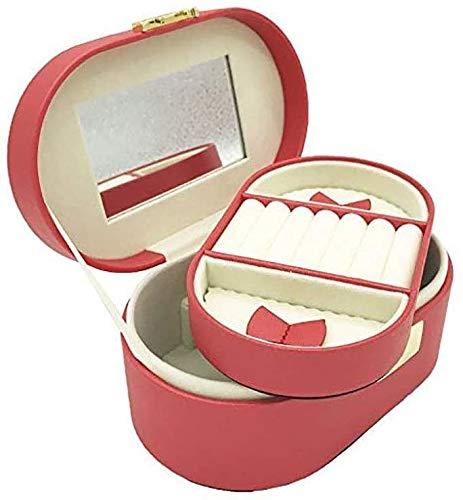 YYhkeby Caja de Reloj Joyería Caja de joyería Caja de Almacenamiento Joyería Pendientes Caja (Color: Rojo) Jialele (Color : Red)