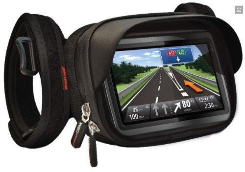 So Easy Rider V5funda resistente al agua Soporte para manillar para TomTom Garmin Magellan GPS con pantalla de 5pulgadas y pantalla táctil smartphones (Max apoyo Smartphone tamaño 14,8x 9,5x 3cm)