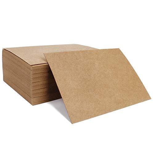Kraftpapier 100 Stück Blanko Papier Karten Mitteilungs-Karte Postkarten für DIY Graffiti Nachricht Leere Grußkarte 14,6 x 9,7 cm
