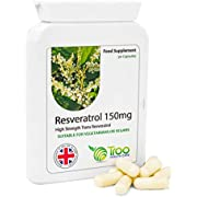 Resveratrol Supplement (150mg) - 90 Capsules   UK Manufactured to GMP code of practice