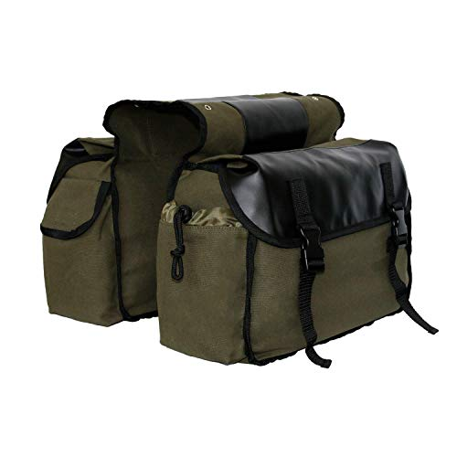 qing niao Updated Bike Pannier Bags Canvas Cycling Equipment Pack Multifunctional Messenger Rear Seat Trunk Carrier Bag Shelf Pack Saddle Bag for MTB Riding Bike