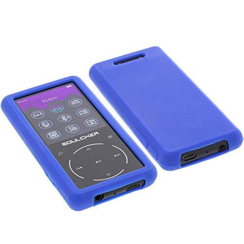 foto-kontor Hülle für Soulcker MP3 Player 16GB Tasche Silikon Schutzhülle Gummi blau