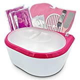Paraffin Wax Machine - Paraffin Bath for Smooth and Soft Skin - Quick Heating 2500ml Large Capacity Paraffin Wax Warmer for hand and feet with Paraffin Wax for SPA & Arthritis Treatment (Pink)