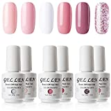 Best Coral Nail Polishes - Gellen Gel Nail Polish Set - Coral Peach Review