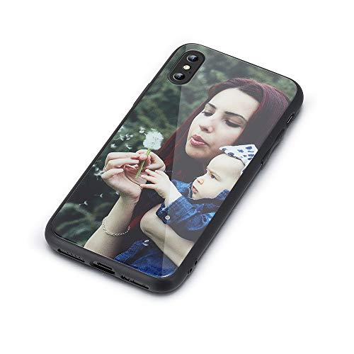 Custom Case for iPhone Design Your Own iPhone Case, Personalized Photo Anti-Scratch Glass TPU Phone Cover
