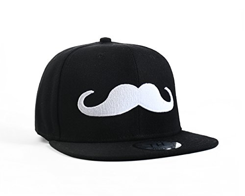 True Heads Kuchendeko Schnurrbart schwarz Snapback Baseball Cap