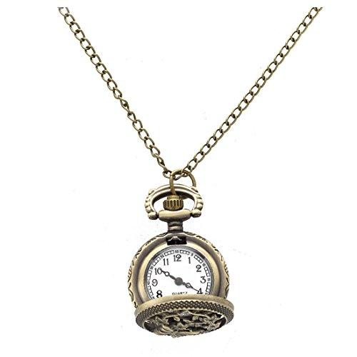 RETYLY - Reloj de Pulsera con Forma de golosina, Cuarzo, aleación de Bronce, Cadena con Colgante Redondo, para Hombres y Mujeres