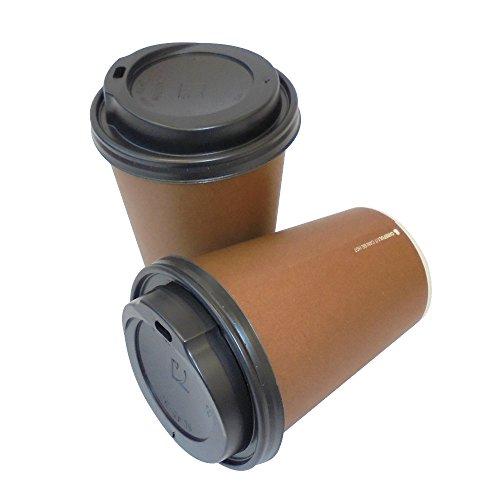 SDG PZ 100 BICCHIERE TERMICO 12 OZ (ML 355) + COPERCHIO NERO PER CAFFE' AMERICANO