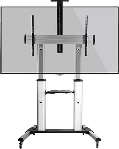 RICOO FS0610, TV Ständer, Rollbar, Universal 55-110 Zoll (140-279cm), Stand-Fuß, Höhenverstellbar mit Rollen, TV-Halterung, VESA 400x200-1000x600