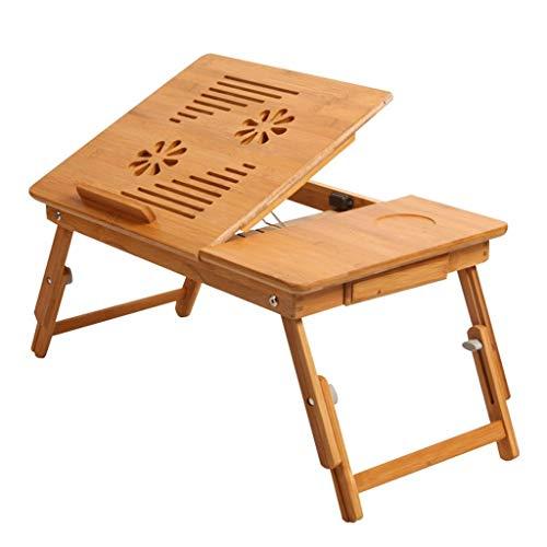 AMTSKR opvouwbare bed tafellade, verstelbare nachtkastje, bamboe bed laden kunnen worden aangepast aan de tafel. Laptoplade Tafel, Opvouwbaar Ontbijt Service Bed Lade
