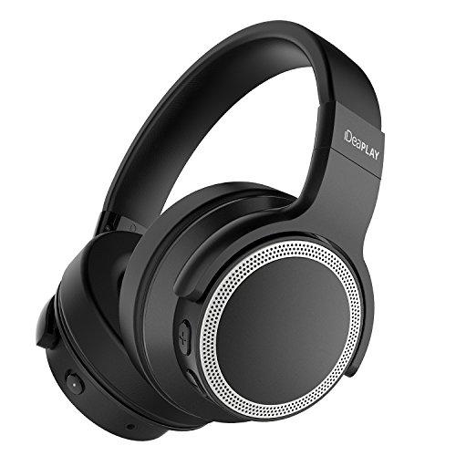 iDeaPLAY Active Noise Cancelling Kopfhörer, Over-Ear kabellose Kopfhörer mit Bluetooth 4.0, eingebautes Mikrofon, Wireless HiFi Stereo Headset mit Geräuschreduzierung, 28 Stunden Spielzeit.