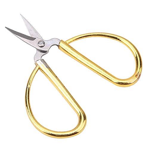 Mini tijeras de metal de acero inoxidable tijeras vintage tijeras de coser tijeras de coser tijeras de bordar tijeras de arte bordado artesanía hacer sastre (dorado)