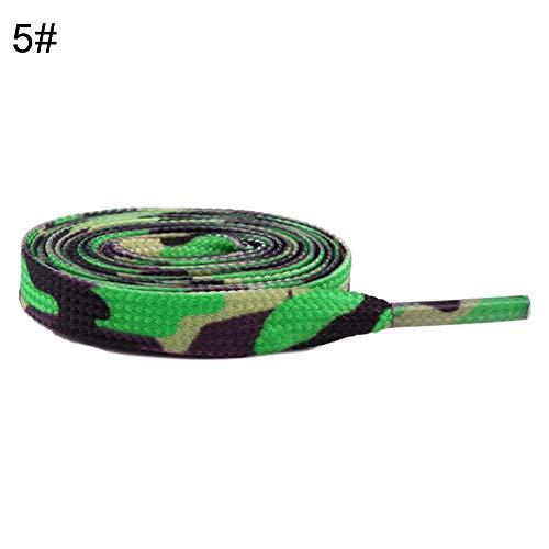 Momangel Flache Schnürsenkel, 50/80 / 100/120 cm, Camouflage gestreift, bunt, Ersatz für Sneaker-Schuhe 100 cm 5#
