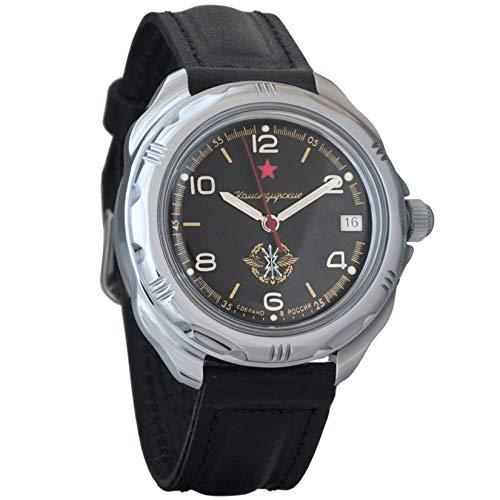 Vostok Komandirskie 2414 Reloj Militar Ruso mecánico de Cuerda Manual // 211296 (Classic)