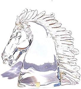 YourMurano, Escultura de cristal de Murano de cabeza de caballo, estatua de cristal y oro para decoración del hogar, marca de origen, caramelos