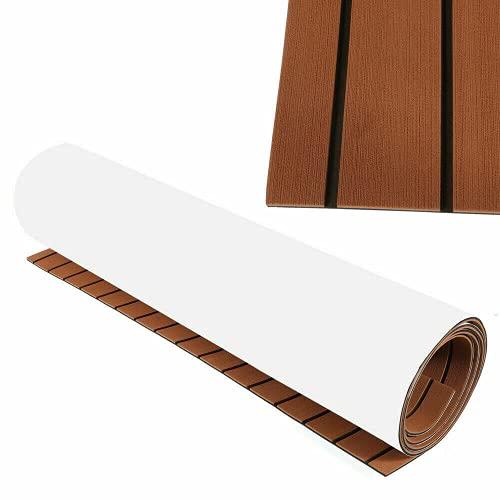 240 x 90 cm, espuma EVA de teca, yate, suelo de espuma de teca marino, alfombra antideslizante para barcos yates marinos