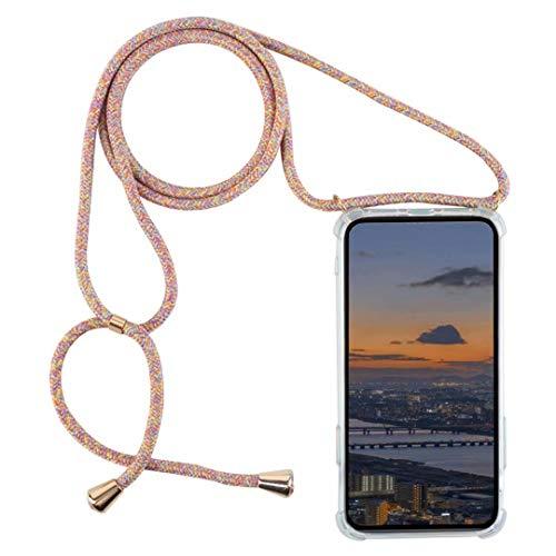 DigerUK Compatibile con Cover Trasparente con Cordino Samsung Galaxy J5 2016/J510 Case AntiGraffio Antiscivolo con Collana Morbido Silicone Soft TPU Cover