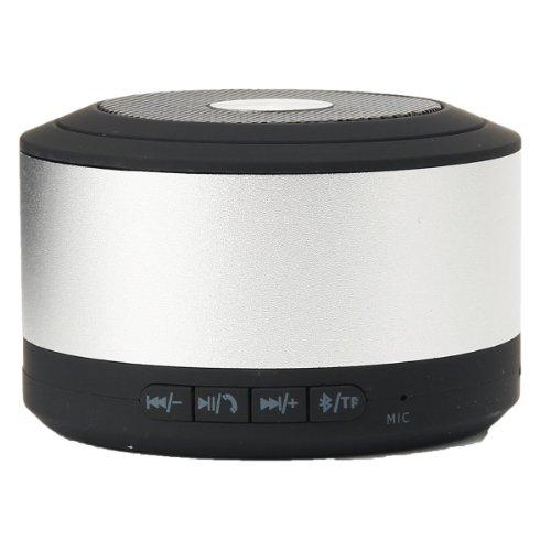 Emartbuy® Silber KompaktetragbareSuperBasskabelloserBluetooth Lautsprechermit FreisprecheinrichtungSuitable for Posh Revel Pro X510 / Posh Revel S500 / Posh Memo S580