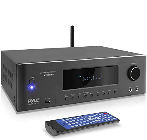 1000W Bluetooth Home Theater Receiver - 5.2-Ch Surround Sound Stereo Amplifier System with 4K Ultra...
