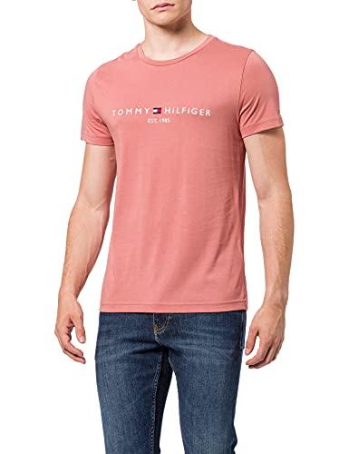 Tommy Hilfiger Organic Cotton Logo T-Shirt Camiseta, Mineralizar, XS para Hombre