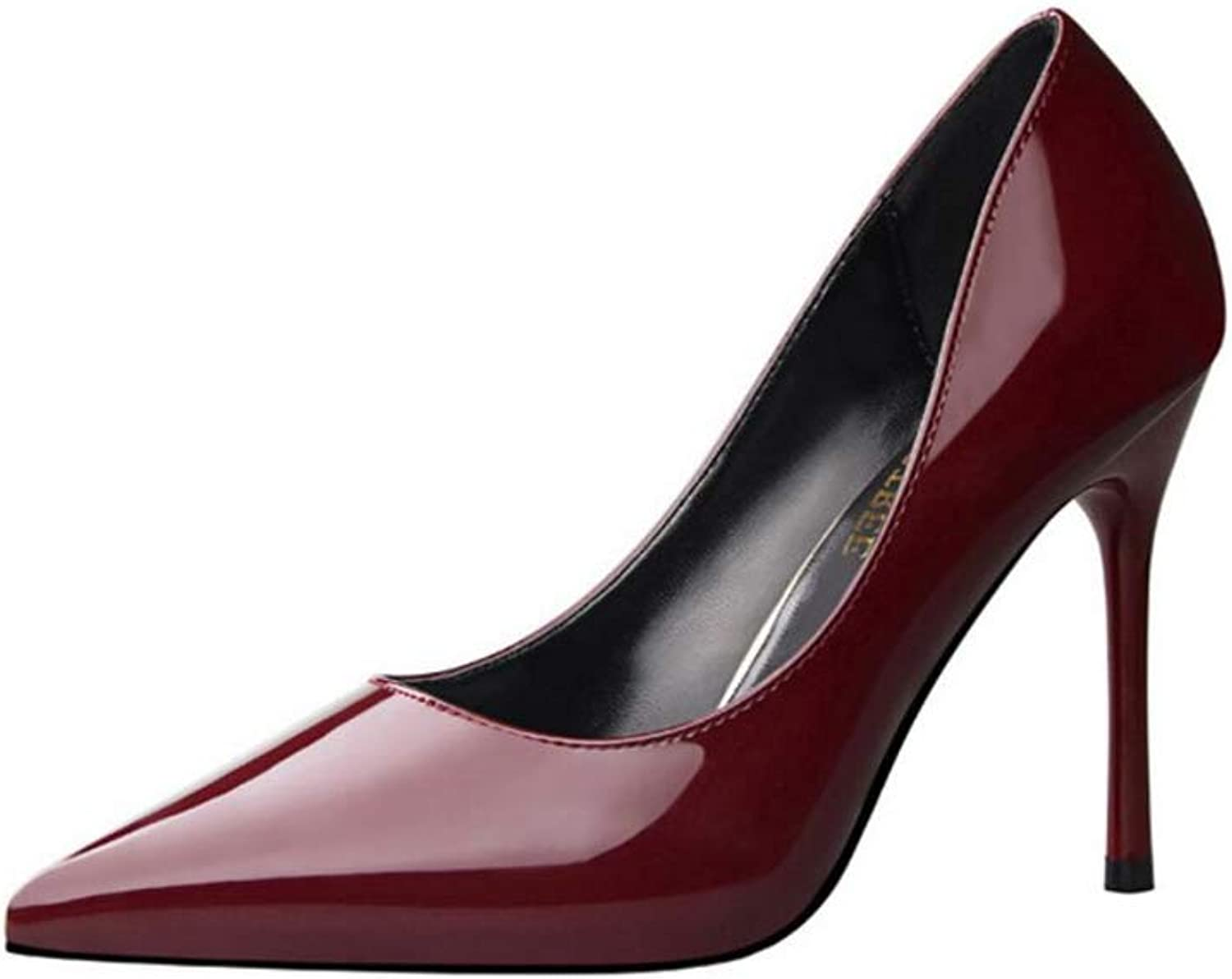 Meimeioo High Heels, Womens Pointed Toe Slip on Stilettos Party Wedding Pumps Basic shoes
