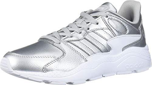 adidas Zapatillas Chaos para mujer, gris (Plata mate/Plata mate/Blanco Ftwr), 42 EU