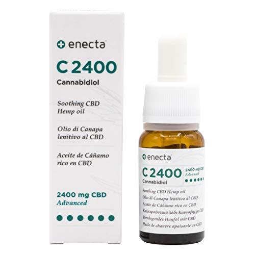 Enecta C2400 - Olio all'estratto di Canapa italiana con CBD 24%. Ipoallergenico, certificato e testato dermatologicamente sulle pelli più sensibili. Confezione da 10 ml con pratico contagocce.