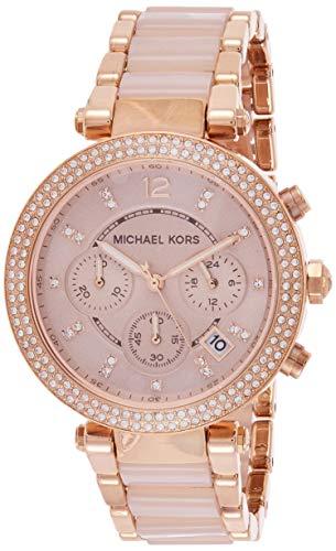 Relógio Michael Kors Mk5896 Parker Rose/Rosa 39Mm