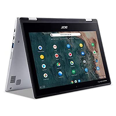 """Acer Chromebook Spin 311 Convertible Laptop, Intel Celeron N4020, 11.6"""" HD Touch, 4GB LPDDR4, 32GB eMMC, Gigabit Wi-Fi 5, Bluetooth 5.0, Google Chrome, CP311-2H-C679 by Acer"""