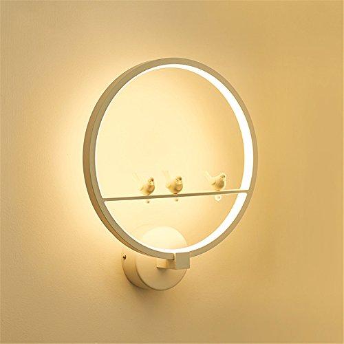 DengWu wandverlichting postmoderne creatieve LED, slaapkamer nachtkastje woonkamer gang, Vogellicht, 30 cm in diameter, 35 cm hoog, wit