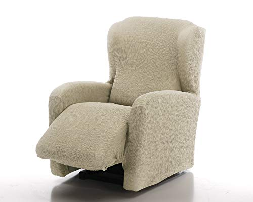 Funda de sofá elástica Relax reclinable Soft (Relax Completo, Natural)