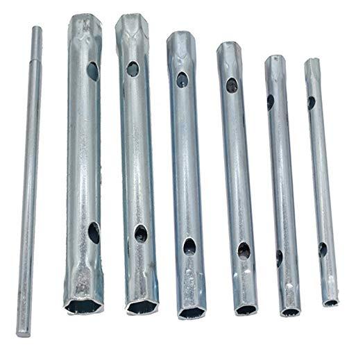 Liseng 6Mm - Juego de Llaves de Tubo Tubular de 17 Mm Tubo de Enchufe Llave de Vaso Hueca Llave de Filtro