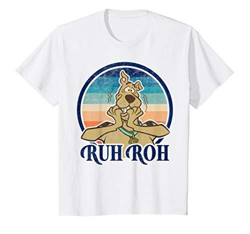 Kids Scooby-Doo Ruh Roh Retro Circle Portrait T-Shirt