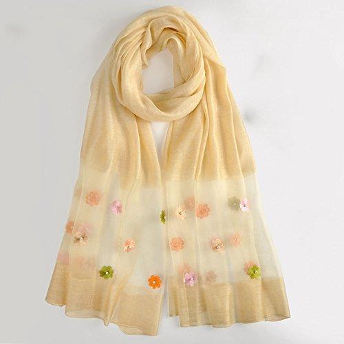Sjaals en Sjaals MEIDUO Sjaals 100% Moerbei Zijde Vrouwen Blauw Grijs Roze Geel Geel