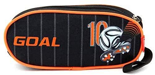 Target Cible Kids 'Round 1 Fermeture Éclair de Football Noir/Orange Trousse, Multicolore, Taille Unique