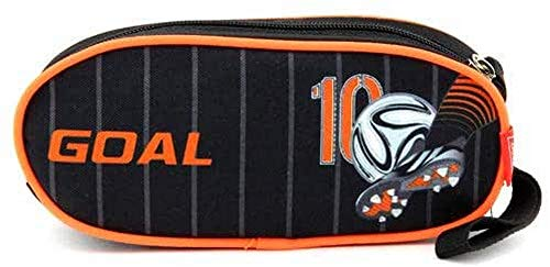 Target Cible Kids 'Round 1 Fermeture Éclair de Football Noir/Orange Trousse, Multicolore, Taille Unique
