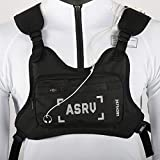 Wisfun Fashion Chest Front Bag, Multipurpose Sport Bag Waterproof Chest Rig Bag Pouch Tactical Chest Rig (Black)