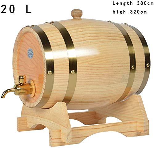 FXPCQC 20L Bierfass Aus Holz Rotweinfass Kaffeefass